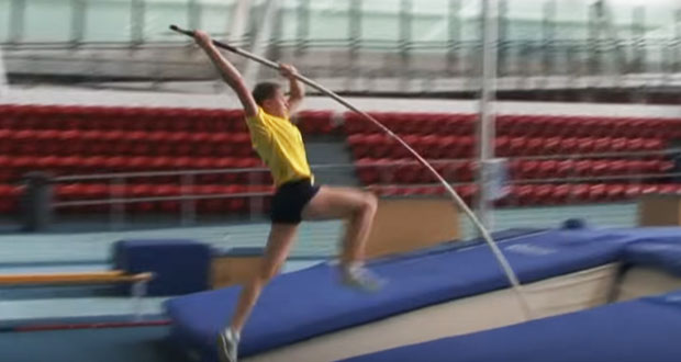 Pole vault take off drills