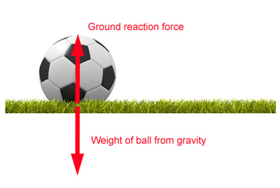 Balanced unbalanced forces biomechanics teachpe in the diagram below the ball is stationary because the forces acting on it are balanced ccuart Gallery