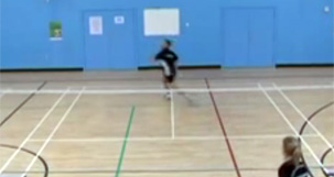 different skills in badminton